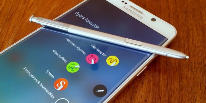 Samsung Galaxy Note 5 teszt