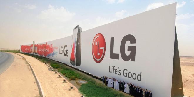 Világrekord plakáton az LG G3!