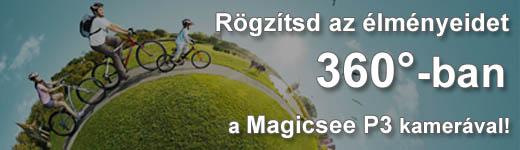 Itt a Magicsee P3 360°-os kamera!