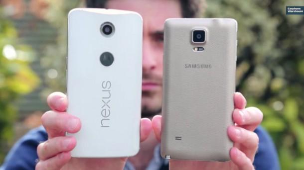 A Nexus 6 még a Note 4-nél is jóval nagyobb lett.