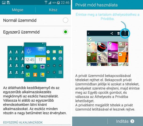 Samsung-Galaxy-A3-egyszeru-privat-mod