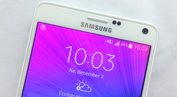 Samsung Galaxy Note 4 a mikroszkóp alatt!