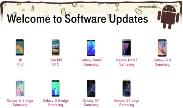 T-Mobile-Android-70-Nougat-update-list