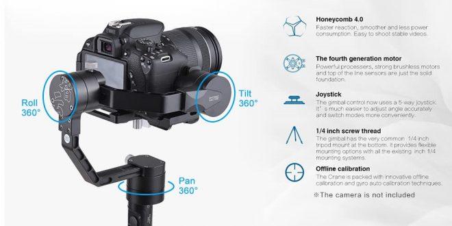 Zhiyun Crane V2 Professional gimbal – Profi stabilizátor kamerákhoz