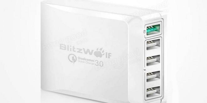 BlitzWolf BW-S7 teszt – Gyorstöltő adapter 5 USB porttal