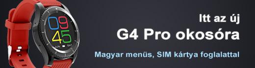 Magyar menüs G4 Pro okosóra