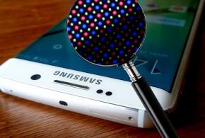 Samsung Galaxy S6 edge a mikroszkóp alatt