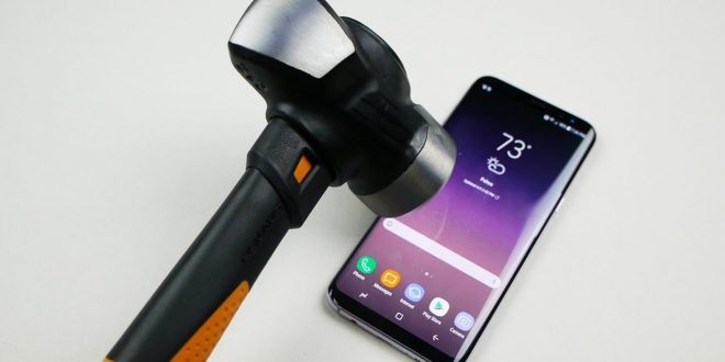 Samsung Galaxy S8 kés és kalapács teszt