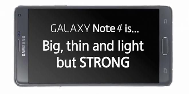A Samsung videón demonstrálja, milyen strapabíró a Galaxy Note 4