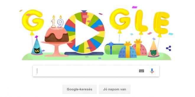 Nézd meg mivel kedveskedik a Google a 19. szülinapja alkalmából!
