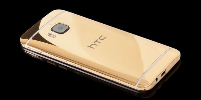 Itt a 24 karátos arannyal borított HTC One M9