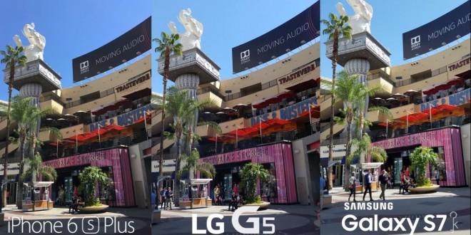 LG G5 vs iPhone 6s Plus vs Galaxy S7 kamera teszt