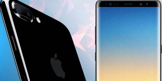 Galaxy Note 8 vs iPhone 8 Plus törésteszt