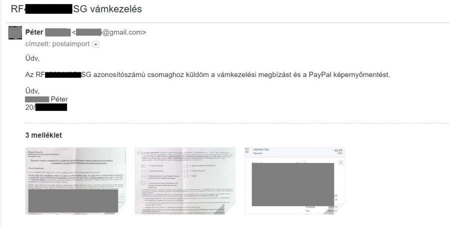 ac10fbcbb0 ... de az az a verzió, amikor a Magyar Postára bízod a vámkezelés  intézését. Ez nem kötelező, intézheted akár magad is, de így a  legegyszerűbb.)