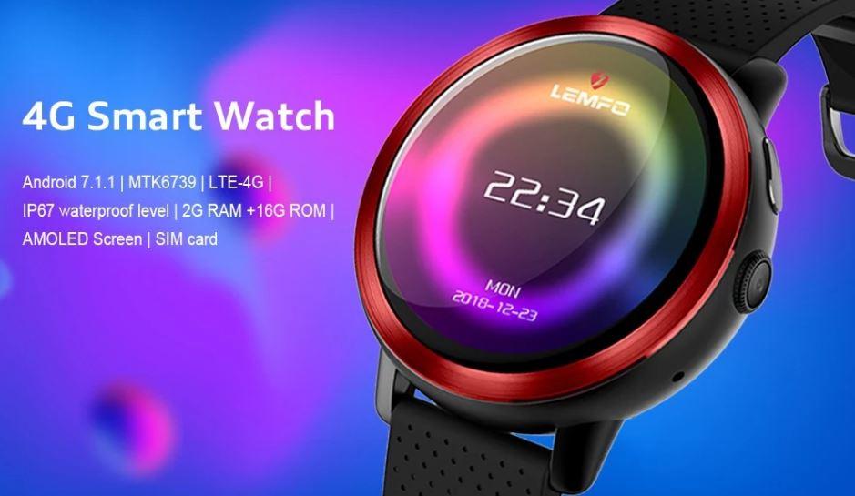 Lemfo LEM8 - 4G-s okosóra Android 7.1-gyel és AMOLED kijelzővel ... f405a92953