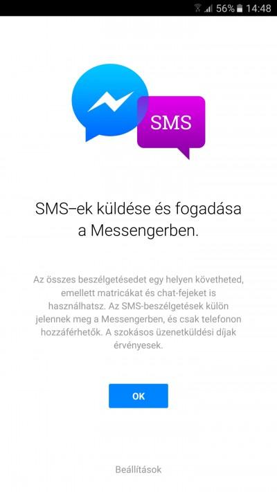 Egy felugró ablakkal jelzi a Messenger az új funkciót