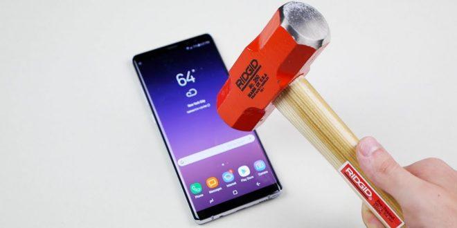 Samsung Galaxy Note 8 kés és kalapács teszt