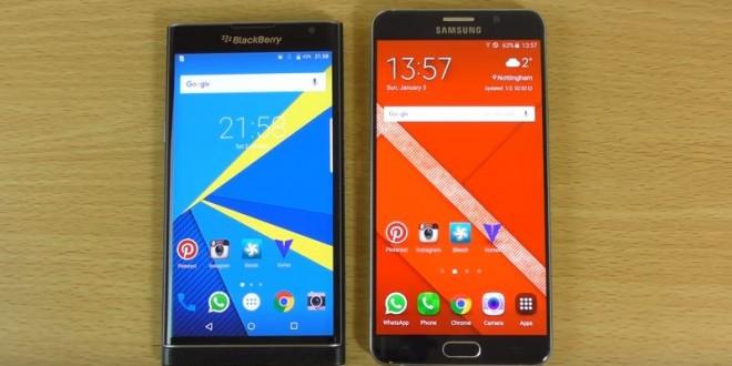BlackBerry Priv a Galaxy Note 5 ellen: sebesség és kamera