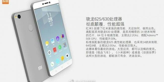 Kiszivárgott a Xiaomi Redmi 5